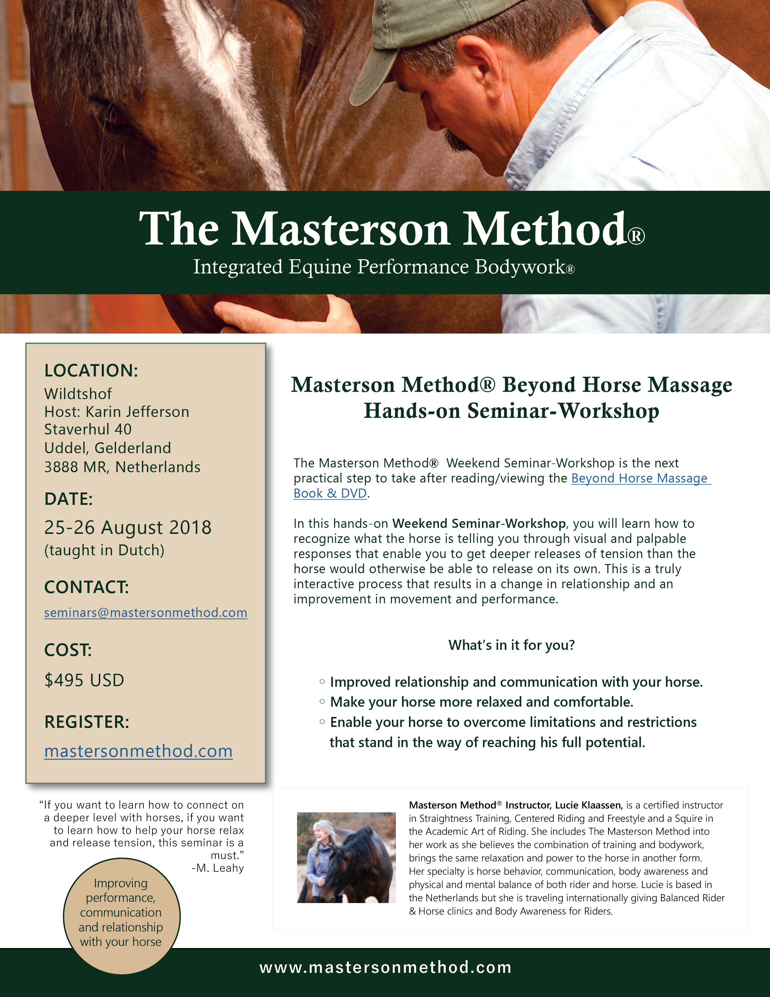 Workshop The Masterson Method